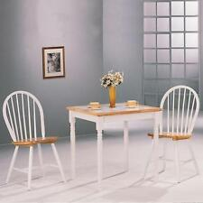 Damen 5 Piece Tile Top Dining Set in Natural and White by Coaster 4129 - 4191