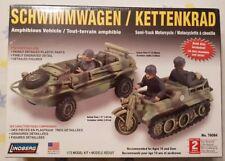 New Lindberg German Schwimmwagen / Kettenkrad 1:72 Plastic Model Kit #76084