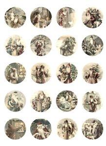 Aufkleber-Möbeltattoo-transparent-Shabby-Vintage-Nikolaus-Weihnachten-sepia-1216