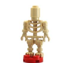 LEGO Ninjago MiniFigure  Skeleton w/ Round Brick Head (Ninjago Bowling Pin)
