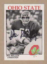 Ike Kelley signed 1988 Ohio State Buckeyes Kroger Police Channel 10TV  card