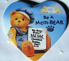 "Cherished Teddies Be A Mem-Bear by Enesco 3"" Collectors Club Pin Back Button"