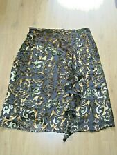 Gorgeous Beth Terrell Mid Calf Length Silk & Crushed Velvet Skirt BNWOT Size XL