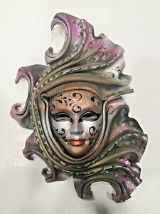 La Gioia Venezia Leather Mask Art Sculpture Decor Handmade 28 CM