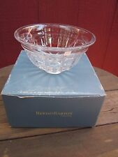 "REED & BARTON 8"" Crystal Bowl ""Tempo Revere"" New Box Vertical Cuts Under Rings"