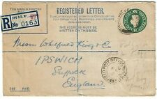 Great Britain 1946 FPO 171 (Iraq) cancel on registry envelope to Suffock