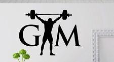 Fitness Gym Gewicht Wandtattoo Wallpaper Wand Schmuck 57 x 81 cm Wandbild Sport