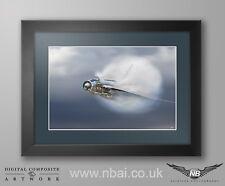 English Electric Lightning F.6 Print framed, 11 Squadron, RAF Binbrook QRA.