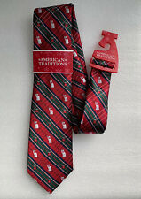 NEW American Traditions Novelty Holiday Plaid Polar Bear Necktie