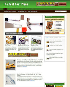 BOAT PLANS WEBSITE WITH AFFILIATE STORE - FULLY STOCKED - NEW DOMAIN & HOSTING
