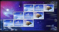 CHINA PRC 2003-10 Meteoriten Meteorite Meteoritenschauer 3448-50 Kleinbogen **