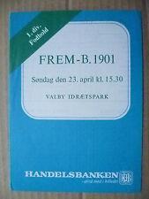 Programma di calcio-frem V B 1901, 23 APRILE