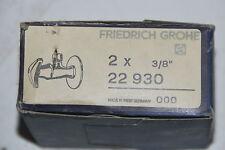 """Friedrich Grohe 22930 2x haut robinet d'équerre poignée 3/8"""" Chrome NEUF"""