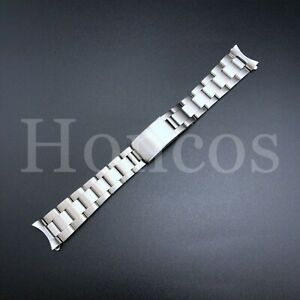 19 MM Unisex Silver Stainless Steel Oyster Watch Band For Vintage Rolex GMT L83