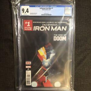 Infamous Iron Man # 1 CGC 9.4 1st Appearance A.I. Tony Stark Marvel Comics 2016