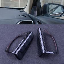 Pair Carbon Fiber Color Door Speaker Decor Cover Trim fit Ford Focus MK3 2012-18
