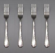 SET OF FOUR - Oneida Stainless Flatware  BELLE ROSE Dinner Forks * USA