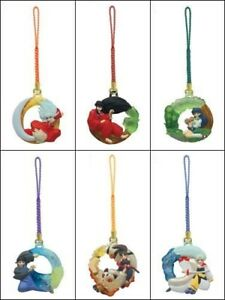 NEW Rare Inuyasha Figure Mascot Charm Phone Strap 6 Types Bandai Official Japan