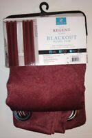 Burgundy Regent Court 2-pack Chevron Blackout Window Curtains 38 x 84 inches NEW