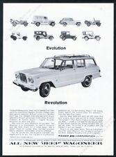 1964 Jeep Wagoneer CJ2A Jeepster CJ5 CJ6 CJ3B etc photo Evolution print ad