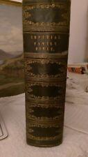 Famille Impériale Bible 1844 Plein Folio (14 in (environ 35.56 cm)) 1st de la série avec 40 GRAVURES.