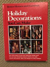 Vintage Better Homes And Gardens Holiday Decorations You Can Make Book 1974