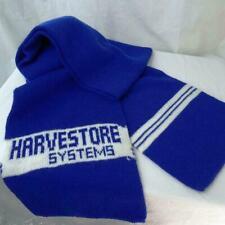"Vintage Harvestore Systems Winter Knit Scarf Farm Ag Farming 8"" x 62"" Long Vtg"