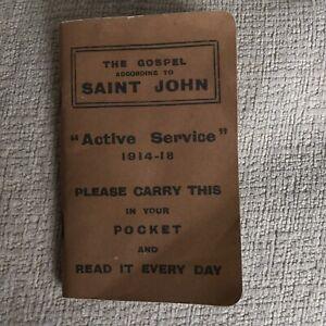 Active Service 1914-18 War Bible St.John Gospel (reprint 2014)