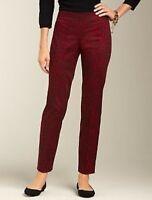 NEW $89 TALBOTS Signature Fit Red Leopard, Animal Print Pants Sz 16P,16 Petite