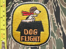 DOG FLIGHT  , US AIR FORCE , usaf ,  FLYING SNOOPY , PATCH