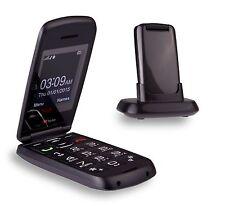 TTfone TT300 Star Flip Big Button Senior Fold Mobile Phone Grey 14Day