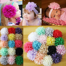 Up New 10Pc Mix Colour Bulk Girl Baby Infant Kid Flower for Headband Hair Clips