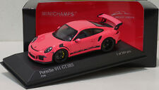 """Minichamps 1/43 Porsche 911 (991) Gt3 Rs 2015 """"Almost Real"""" Pink Special Promo"""