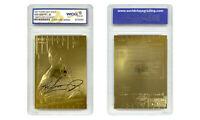 1997 KEN GRIFFEY JR FLEER 23K GOLD SCULPTURED ROOKIE CARD - GEM MINT 10