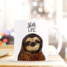 Kaffeebecher Kaffeetasse Becher Tasse Faultier mit Spruch Zitat sloth life ts409