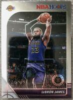 2020 NBA HOOPS PREMIUM STOCK LEBRON JAMES 1ST EDITION BASE CARD #87 - LAKERS
