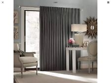 Eclipse Paxton Thermal Blackout Patio Door Curtain Panel 100x84,Charcoal