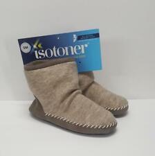ISOTONER  Women's Sz S (5-6)  Marisol Boot Slipper  Microsuede & Heather Knit