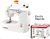 Techwood TMAC-608 Máquina de coser, Portatil, color Blanco, Maquina de Costura