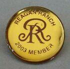 Reagan Ranch Political Pin  - 2003 Member - Vintage Republican Badge