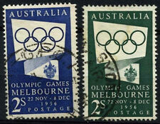 Australia 1954-5 SG#280-280a Olympic Games Used Set #D37816