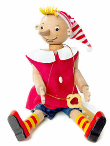 Handmade wooden doll character of the fairy tale Pinocchio Gift Toy Буратино