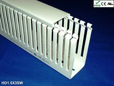 """18 New 1.5""""x3""""x2m Narrow Finger Open Slot Wire Ducts/Cable Raceway Covers, White"""