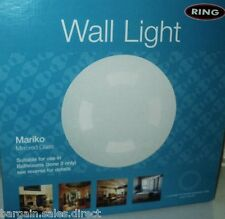Anillo de luz Mariko baño con espejos de vidrio redondo IP44 Salón de pared de luz