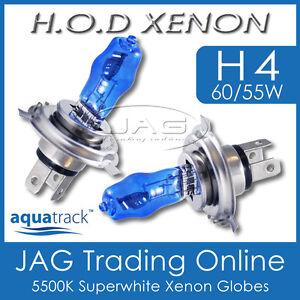 12V HOD XENON H4 60/55W 5500K SUPERWHITE HEADLIGHT CAR/AUTO WHITE GLOBES/BULBS