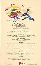 More details for p & o - s.s. himalaya menu (  1951 )  luncheon ( laughter in jamaica )