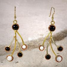 New Tara Mesa Moonstone & Onyx Array Earrings