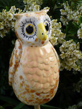 Keramik Eule 37314 Zaunhocker Deko Tier Beetstsecker Garten Uhu Vogel Gartenstab