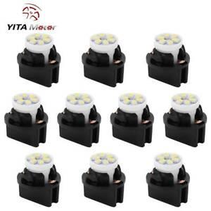 YITAMOTOR T10 194 White LED Bulb Instrument Cluster Dash Light Twist Lock Socket