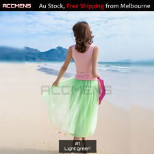 Ladies Long tutu Gown Skirt 6-Layers Premium Soft Tulle Adults Girls Romantic 80